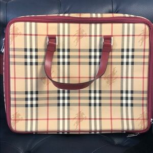 Unisex Burberry Briefcase / Laptop Bag
